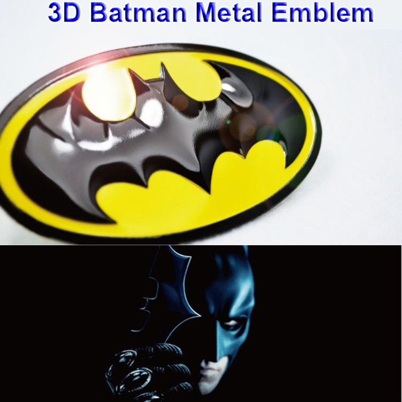 1x evrensel araba oto motor 3d dark knight batman logo gobo sembol metal alaşım amblem badge decal sticker 0018