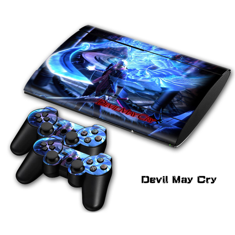 Devil May Cry Vinil Cilt Sticker Sony PlayStation 3 Süper İnce Konsolu ve Controller Için Cilt