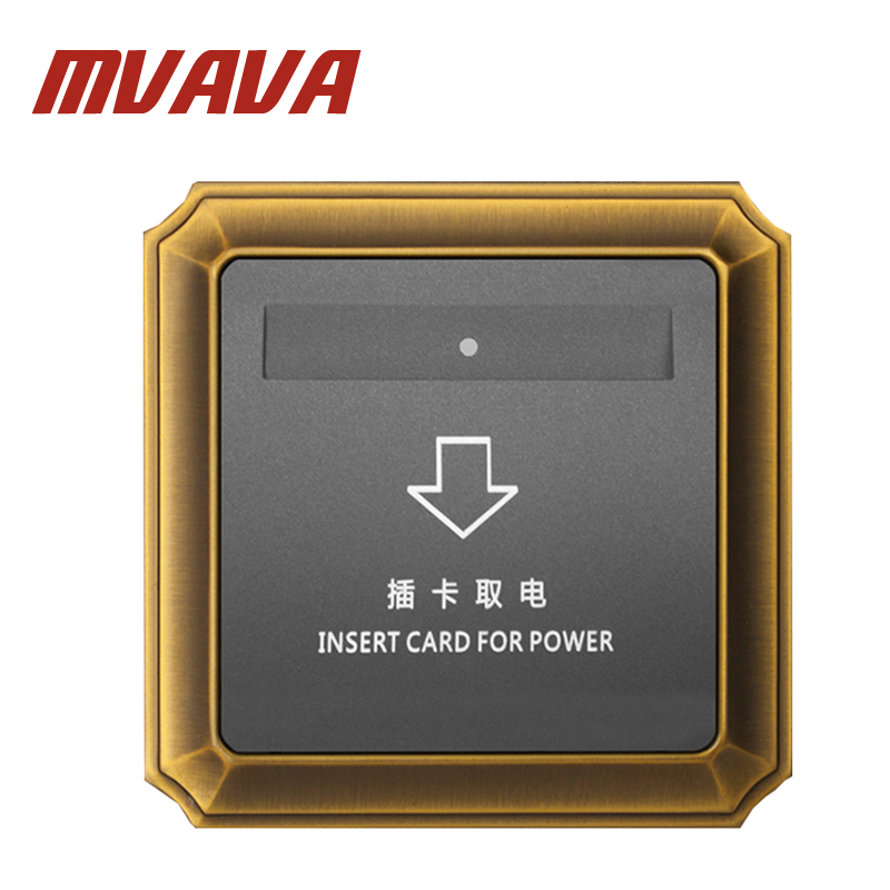MVAVA Hotel Card Switch Energy Saving Insert Card For Power Wall Switch For Room Card Luxury Top Grade Bronzed Panel Free Ship